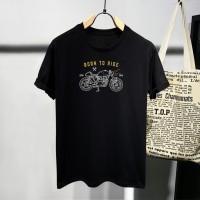 T-shirt Motor Abstrak / Baju Kaos Distro Pria Wanita Cotton 30s