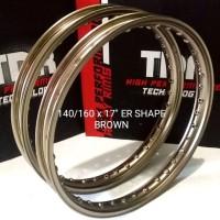 Velg TDR Er shape 140 dan 160 titanium ring 17 parts