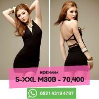 S-XXL Mini Dress Lingerie Hitam Clubwear Baju Seksi Clubbing   Baju