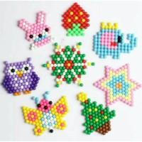 Terpopuler Refill 50Pcs Mainan Round Aquabeads Aqua Bead Beads Isi