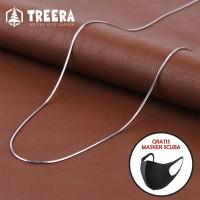 Kalung Titanium Silver Pria Wanita Keren Premium
