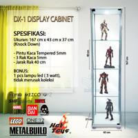 DX1 Display Lemari Pajangan 3 Rak Kaca Gundam Metalbuild Hot Toys HT