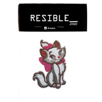 Beauty Cat White Girl kucing IRON ON Patch bordir emblem badge patches