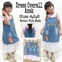 Dress Overall Tutu Jeans Denim Anak Murah, size 4,5,6
