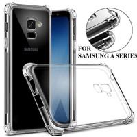 Samsung A6/A7/A8/Plus/A9/2018 Case Anti Crack Fiber Casing Hard Soft - A8 Plus 2018