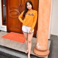 T-shirt Kaos Cewek Lengan Panjang FILA Baju Lengan Panjang FILA