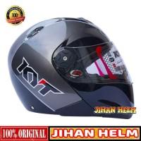 HELM / HELM KYT / HELM FULL FACE KYT X ROCKET BLACK GUNMETAL TERLARIS