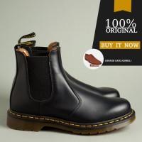 Sepatu Boots Original Dr. Martens 2976 YS Chelsea - Black Smooth - 36