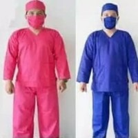 baju seragam OKA panjang / seragam perawat / baju jaga - S