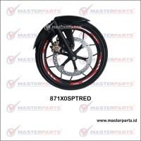 Wheel Rim Sticker (Stiker Velg) - Merah Motor - Honda Sport Velg 17″