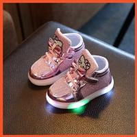 Perempuan ??SF?? Fashion Anak: Sepatu Boots Hello Kitty LED Anak