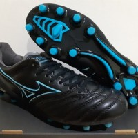 Sepatu Bola - Soccer Mizuno Morelia Neo II Leather Black Blue - FG