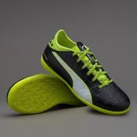 Sepatu Futsal Original Puma EvoTouch 3 IT 10375201 Black Yellow Murah
