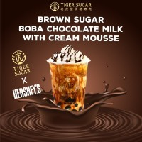 Brown Sugar Boba Chocolate Milk with Cream Mousse