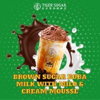 Brown Sugar Milk with Milo & Cream Mousse