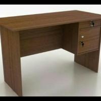 meja kerja kantor ketik tulis kayu 1/2 biro panjang 120 cm TERJAMIN