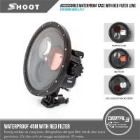 DIve Housing Case Anti Air Red Macro Filters Gopro Hero 5 6 7 Black
