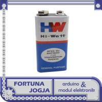 Baterai Kotak 9V HW Hi-Watt 6f22 Battery 9 Volt
