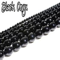BATU NATURAL BLACK ONYX - BAHAN GELANG - KALUNG - TASBIH - AKSESORIS - 8