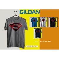 Kaos super Hero SUPERMAN logo kaos original Gildan ab264