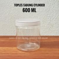 Toples Tabung Cylinder 600 ml - Toples Jar Plastik 600 ml / 600ml