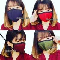 Masker kain 2 lapis / No scuba / Masker korea / Unisex
