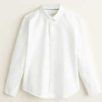 MANGO Cotton Oxford Shirt - White