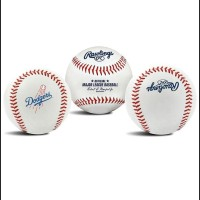 TERPERCAYA Rawlings Official MLB Team Logo Baseball Bola Ball Dodgers