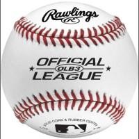 FREE ONGKIR Rawlings Official League Logo Baseball Bola Ball TERUJI