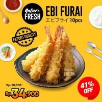 NatureFresh Ebi Furai Udang Beku isi 10 Udang Tempura Jumbo Breaded