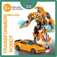 Mainan Anak Robot Transformer Bumble Bee Kuning - robot berubah mobil