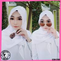 Hijab Jilbab Segi Empat Bella Square Kerudung Polycotton - PUTIH