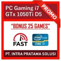 PC Rakitan Core i7 + Ram 16GB + HDD 1TB + Nvidia GTX 1050Ti 4GB