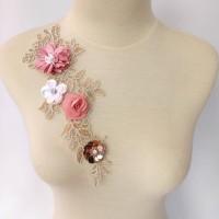 lace bordir bunga 3d BB25/aplikasi bordir/bordir baju