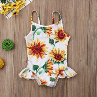 baju renang bayi 3bln-3thn bunga matahari