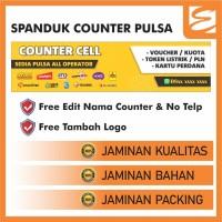 Spanduk Konter Pulsa (Banner Counter) - 1M