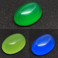 batu paket murah(3pcs)green chalsedony/anggur melon/spirtus chalsedony