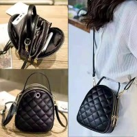 Tas wanita cewek branded import Zara 3 zip ruang selempang zipper mini