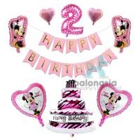 Balon Foil Minnie Ulang Tahun Banner Pink - 1