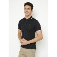 Jack Nicklaus Wisner Polo Shirt Pria Slim Fit Black