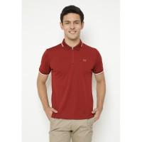 Jack Nicklaus Wisner Polo Shirt Pria Slim Fit Red