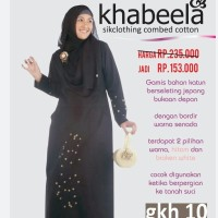 Gamis Khabeela model GKH 10 (hitam)