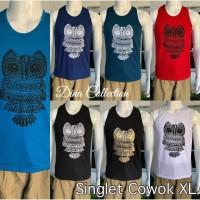 Baju Singlet burung hantu Kaos Oblong Bali