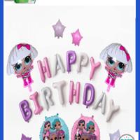 Unik Balonasia Dekorasi Ulang Tahun LOL Surprise! Ungu Set Murah