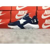 Sepatu Sneakers Desain Nike Wallace Five Generations Warna Biru Tua