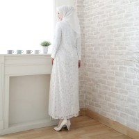 Jual Baju Gamis Putih / Busana Muslim / Baju Muslim #80820 STD