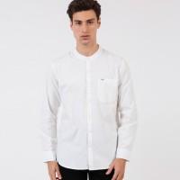 Kemeja WRANGLER Hayde Long Sleeves Shirt Mandarin White ORIGINAL