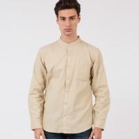 Kemeja WRANGLER Hayde Long Sleeves Shirt Mandarin Beige ORIGINAL