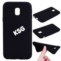 Silicon Kondom Soft Case Black Matte Samsung Galaxy J2 Core