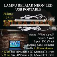 Lampu Belajar Neon LED USB Portable DC 5V 1A Panjang 32 cm